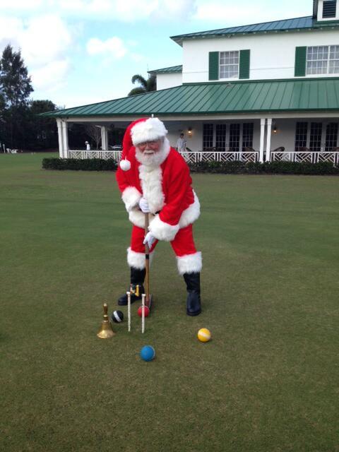 Игра крокет - Santa