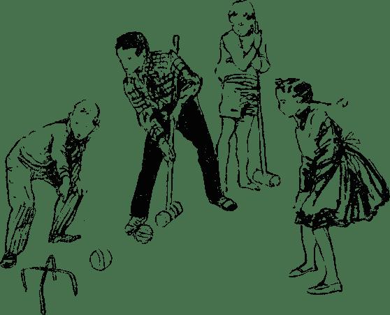 Игра крокет - Игра в крокет