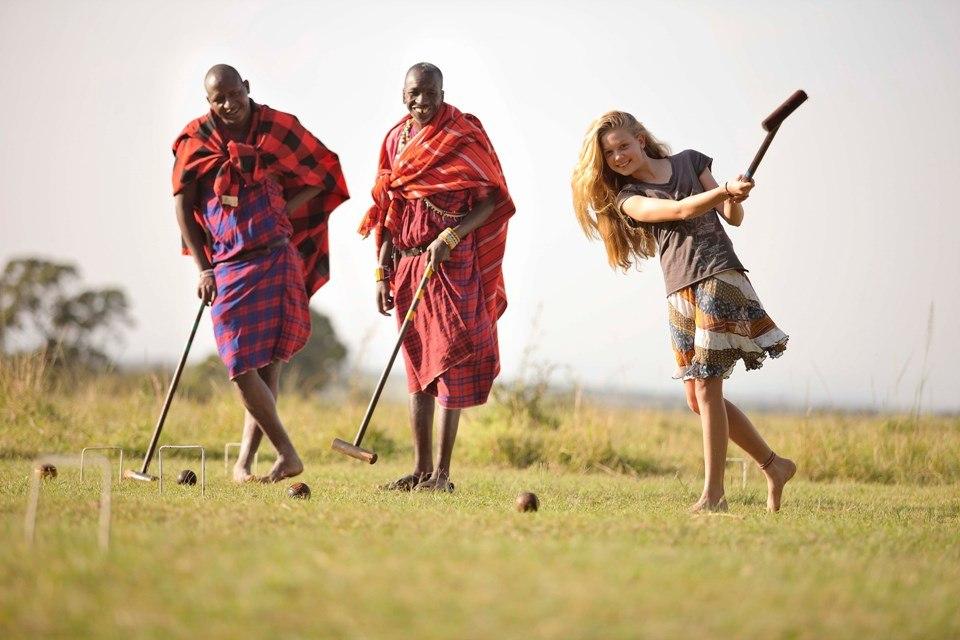 Игра крокет - КрОкет и крИкет в Кении