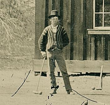 Игра крокет - О фотографии «The Billy the Kid Croquet Match Tintype»