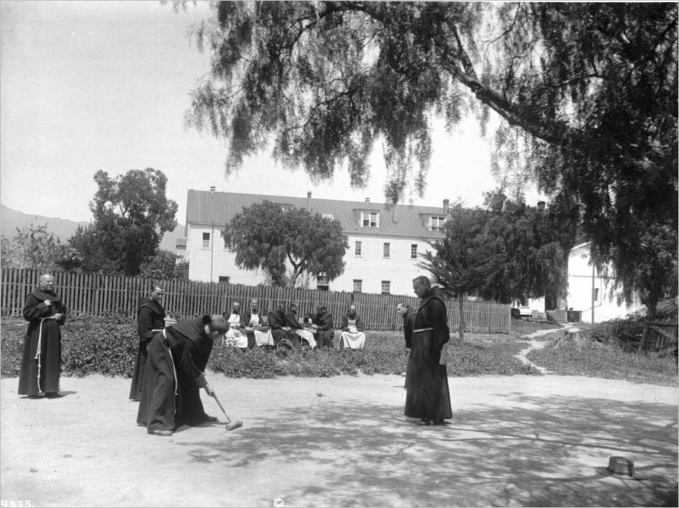 Игра крокет - Францисканцы, играющие в крокет