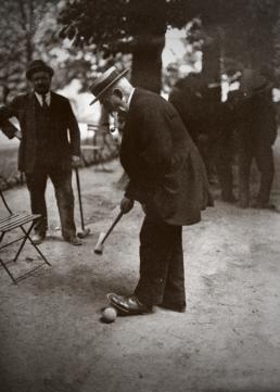 Jeu de croquet au Jardin du Luxembourg, 1921