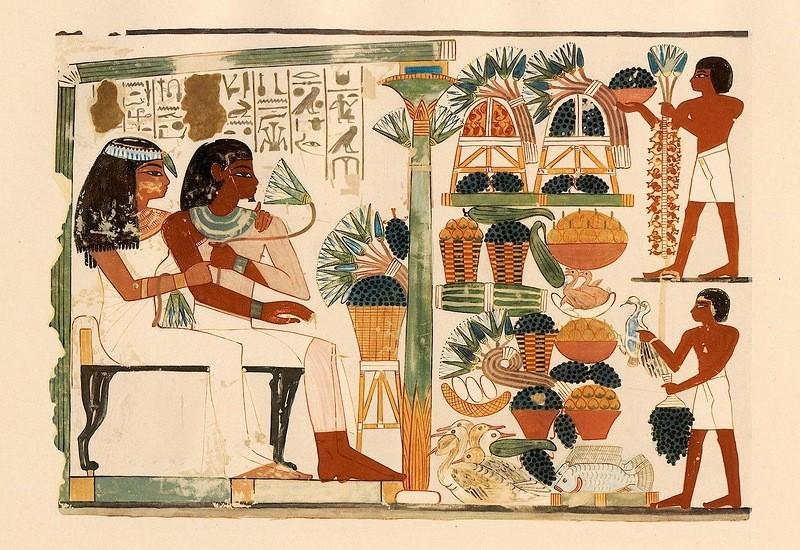 Росписи из гробницы писца Нахта, Фивы.
