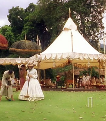 Игра крокет - Анна и король