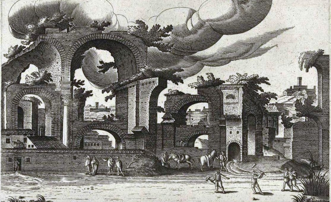 Pallamaglio у терм Диоклетиана в Риме (Италия)